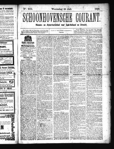 Schoonhovensche Courant 1900-07-25