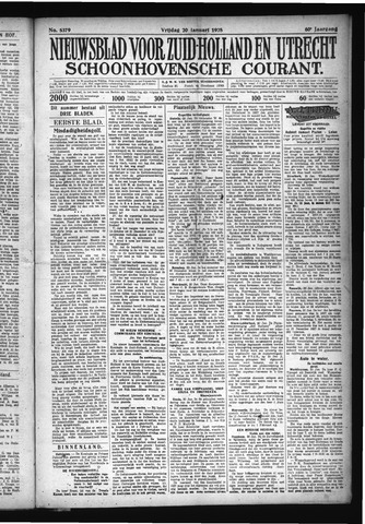 Schoonhovensche Courant 1928-01-20