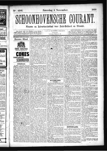 Schoonhovensche Courant 1910-11-05