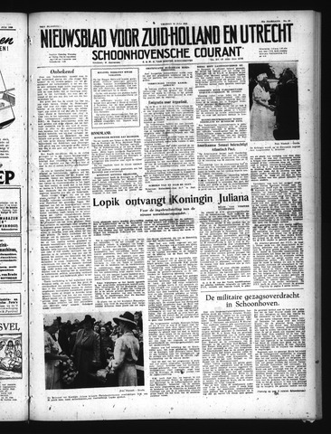 Schoonhovensche Courant 1949-07-22