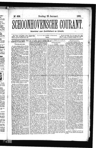 Schoonhovensche Courant 1881-01-23