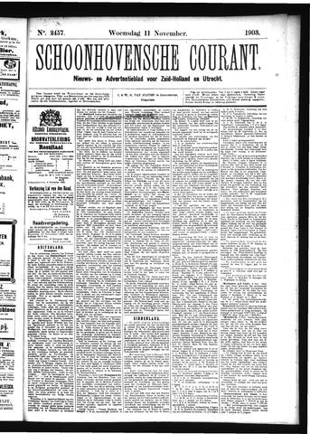 Schoonhovensche Courant 1903-11-11