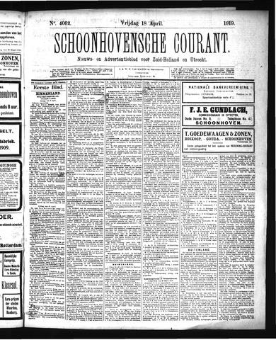 Schoonhovensche Courant 1919-04-18