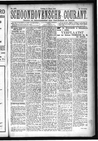 Schoonhovensche Courant 1922-03-31