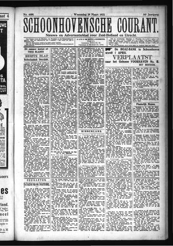 Schoonhovensche Courant 1922-03-29