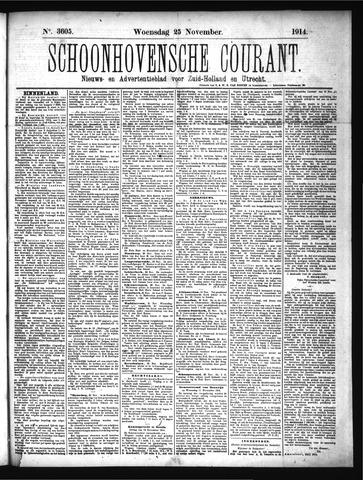 Schoonhovensche Courant 1914-11-25