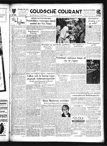 Goudsche Courant 1952-05-07