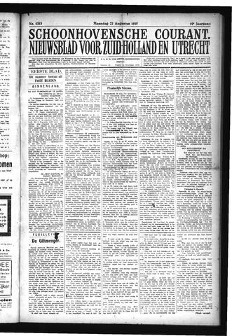 Schoonhovensche Courant 1927-08-22