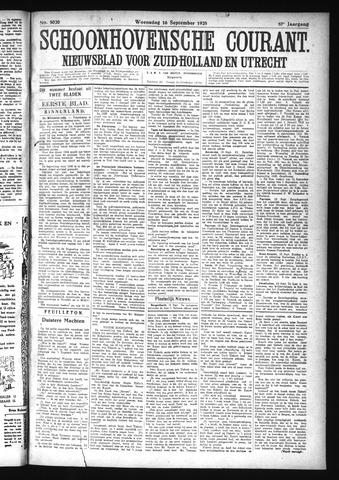 Schoonhovensche Courant 1925-09-16
