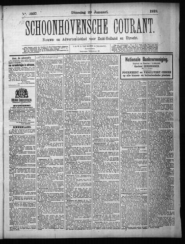Schoonhovensche Courant 1918-01-29