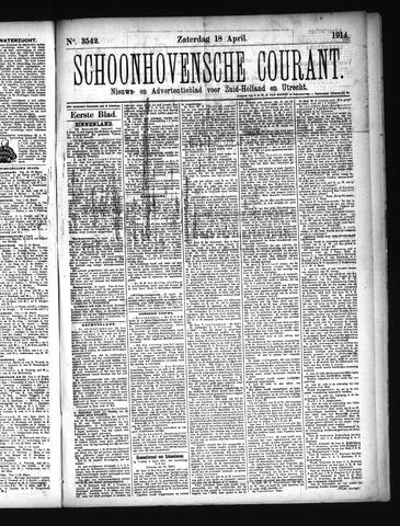 Schoonhovensche Courant 1914-04-18