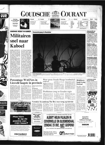 Goudsche Courant 2001-12-22