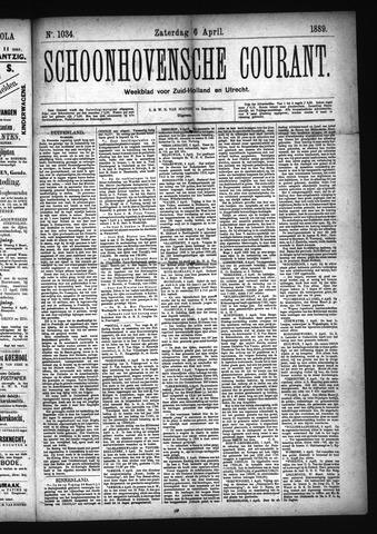 Schoonhovensche Courant 1889-04-06