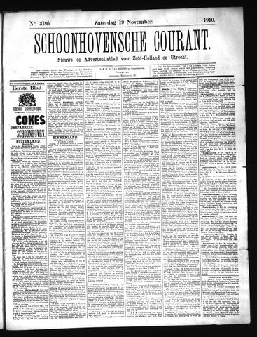 Schoonhovensche Courant 1910-11-19