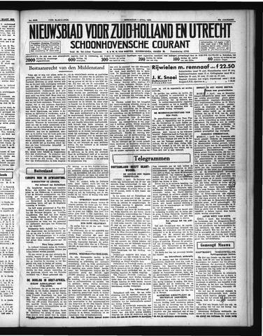 Schoonhovensche Courant 1936-04-01
