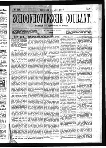 Schoonhovensche Courant 1887-12-31