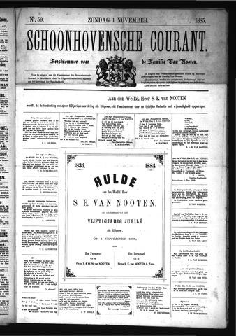 Schoonhovensche Courant 1885-11-01
