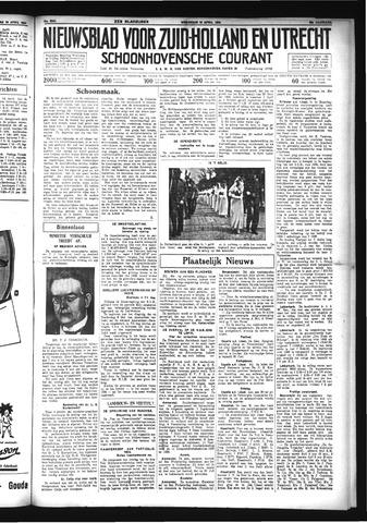 Schoonhovensche Courant 1934-04-18