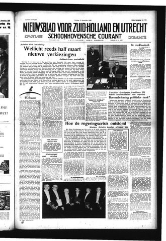 Schoonhovensche Courant 1958-12-12