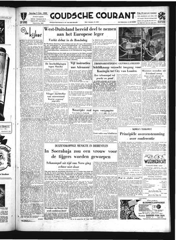 Goudsche Courant 1952-02-09