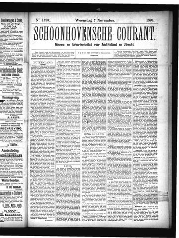 Schoonhovensche Courant 1894-11-07