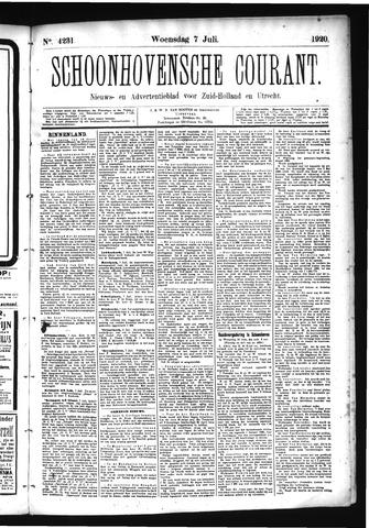 Schoonhovensche Courant 1920-07-07