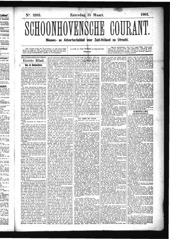 Schoonhovensche Courant 1902-03-15