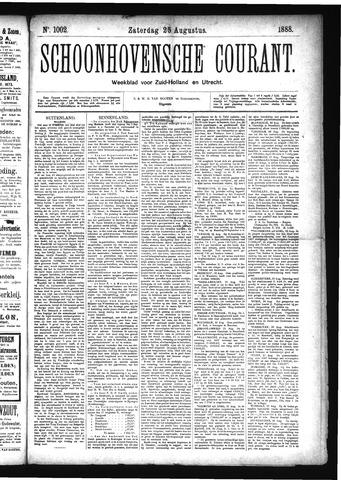 Schoonhovensche Courant 1888-08-25