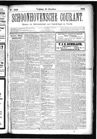 Schoonhovensche Courant 1919-10-10
