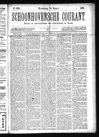 Schoonhovensche Courant 1892-03-23