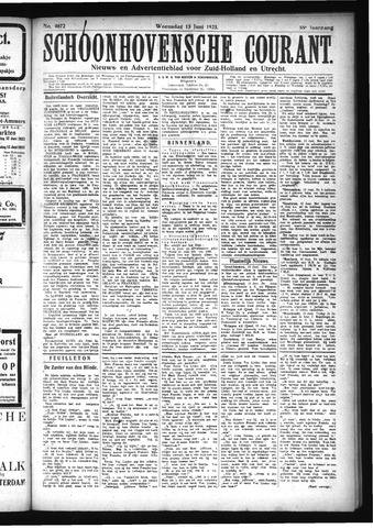 Schoonhovensche Courant 1923-06-13