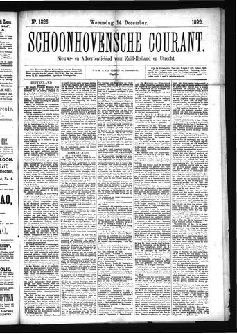 Schoonhovensche Courant 1892-12-14