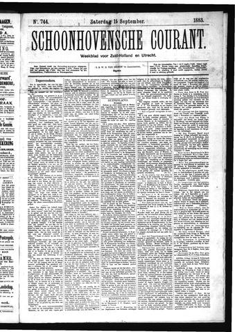 Schoonhovensche Courant 1883-09-15
