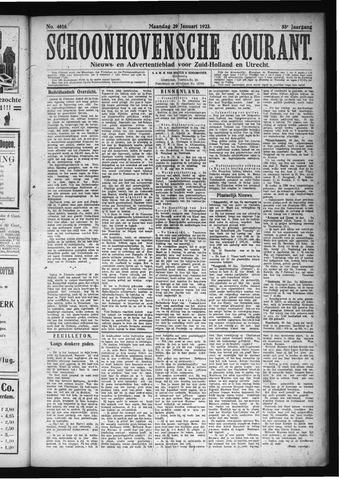 Schoonhovensche Courant 1923-01-29