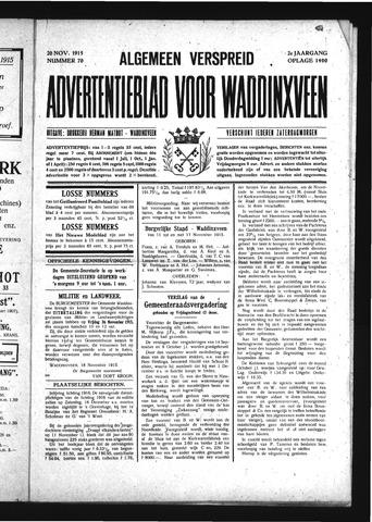 Advertentieblad Waddinxveen 1915-11-20