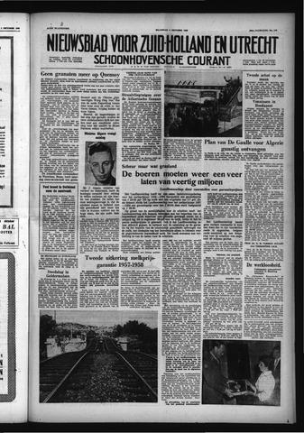 Schoonhovensche Courant 1958-10-06