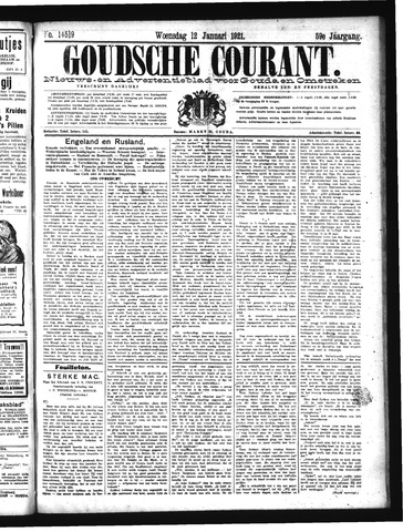 Goudsche Courant 1921-01-12