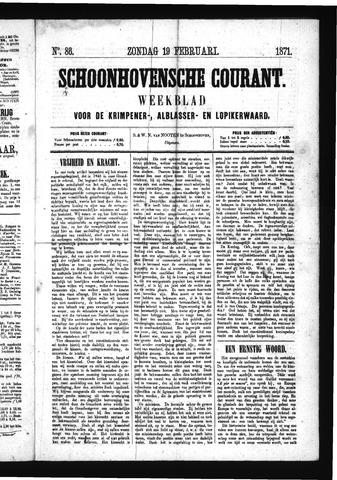 Schoonhovensche Courant 1871-02-19