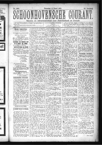 Schoonhovensche Courant 1922-03-13