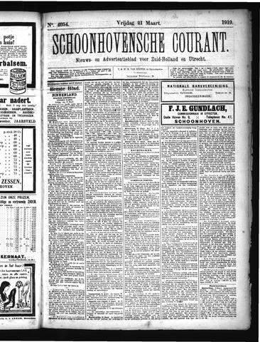 Schoonhovensche Courant 1919-03-21