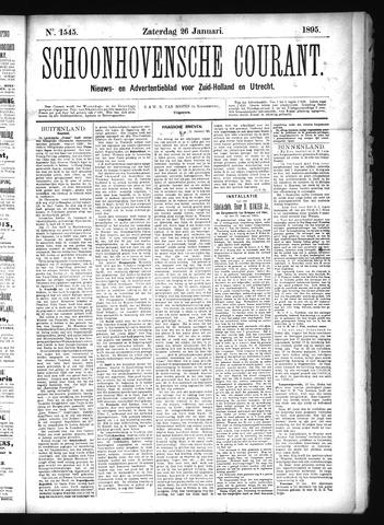 Schoonhovensche Courant 1895-01-26