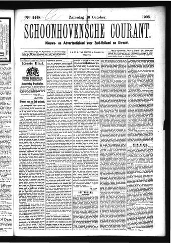 Schoonhovensche Courant 1903-10-10