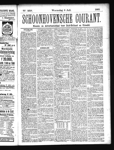 Schoonhovensche Courant 1902-07-09