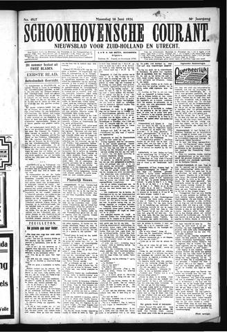 Schoonhovensche Courant 1924-06-16