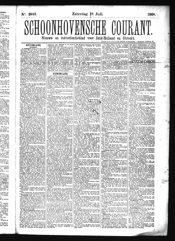 Schoonhovensche Courant 1908-07-18