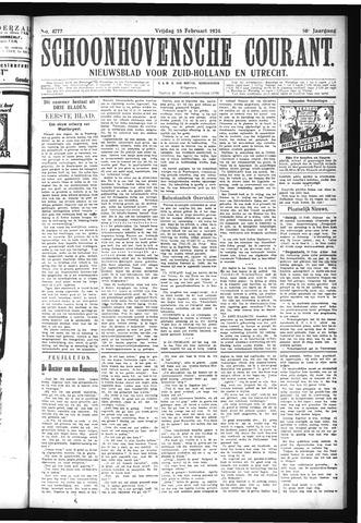 Schoonhovensche Courant 1924-02-15
