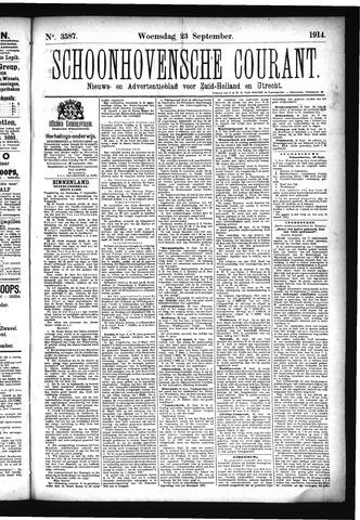 Schoonhovensche Courant 1914-09-23