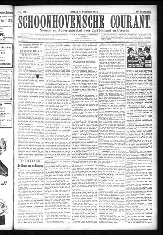 Schoonhovensche Courant 1924-02-08
