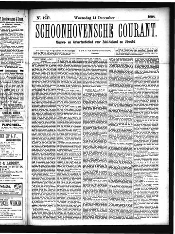 Schoonhovensche Courant 1898-12-14
