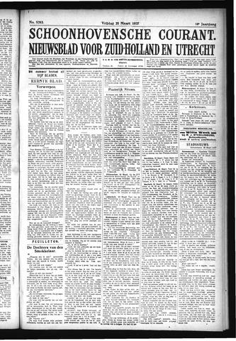 Schoonhovensche Courant 1927-03-25